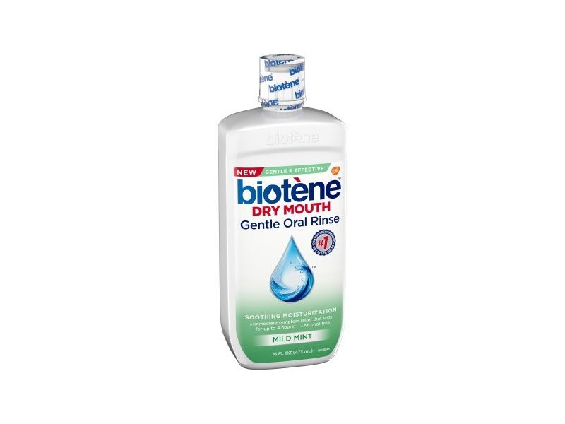 Biotene Dry Mouth Gentle Oral Rinse, Mild Mint, 16 fl oz