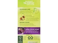 Garnier Nutrisse Ultra Color Nourishing Hair Color Creme, V2 Spiced Plum Dark Intense Violet - Image 3