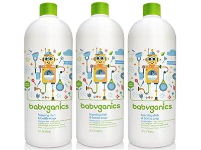 BabyGanics Foaming Dish Soap Refill, 32 fl. oz. (Pack of 3)