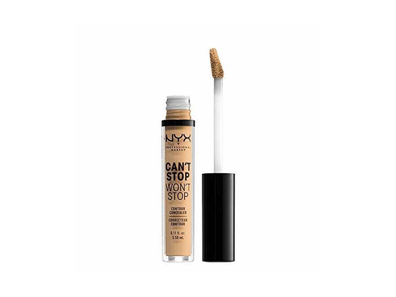 Nyx Professional Makeup Can't Stop Won't Stop Contour Concealer, True Beige, 0.11 Ounce