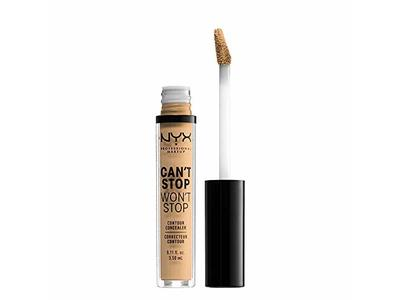 Nyx Professional Makeup Can't Stop Won't Stop Contour Concealer, True Beige, 0.11 Ounce