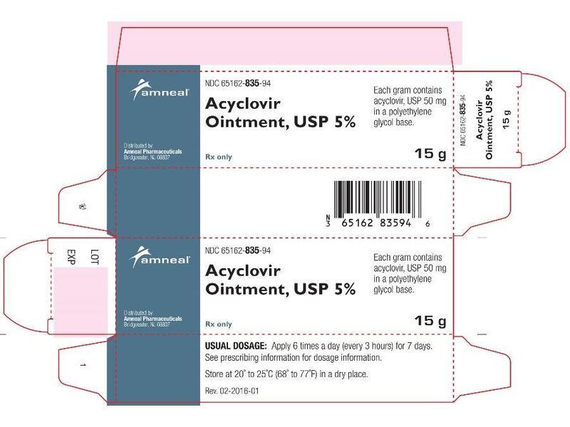 Acyclovir Ointment 5% (RX), 15 Gram, Amneal Pharmaceuticals