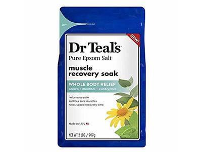 Dr. Teal's Pure Epsom Salt Muscle Recovery Soak, Arnica Menthol Eucalyptus, 2 Lb (Pack of 2) - Image 1