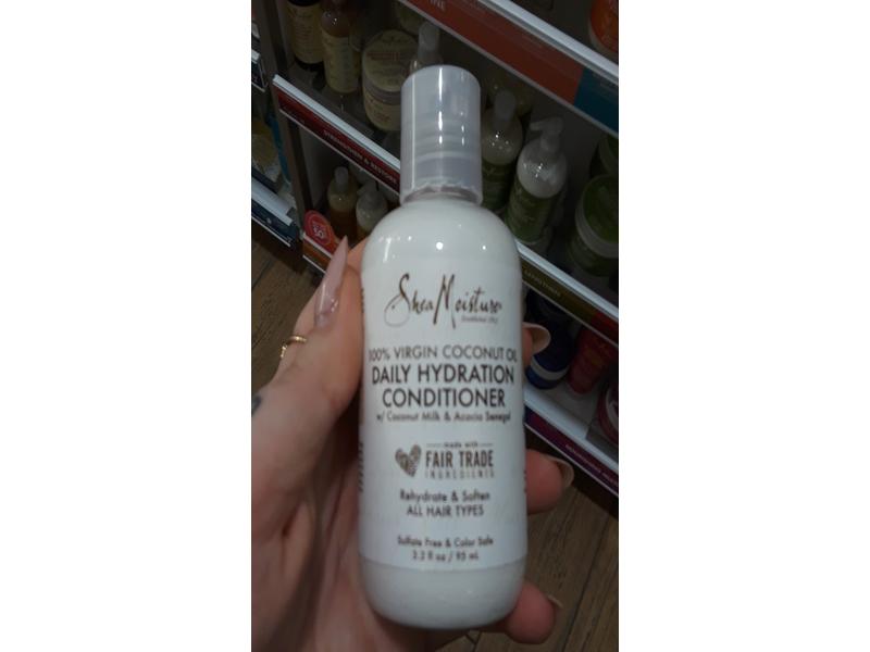 Shea Moisture 100% Virgin Coconut Oil Daily Hydration Conditioner, 3.2 fl oz