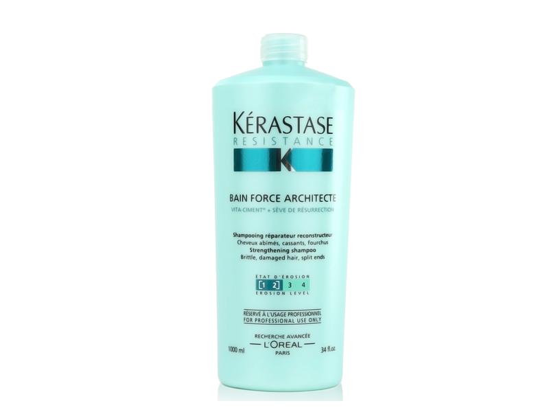 Kerastase Resistance Bain Force Architecte Strengthening Shampoo, 34 fl oz