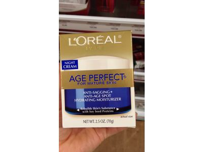 L'Oreal Dermo Exp Cream Night Age Perfect, 2.5 Oz - Image 3