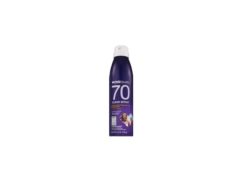 CVS Health Clear Broad Spectrum Sunscreen Spray SPF 70