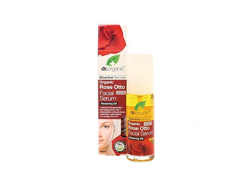 Dr. Organic Rose Otto Facial Serum, 1.1 fl oz