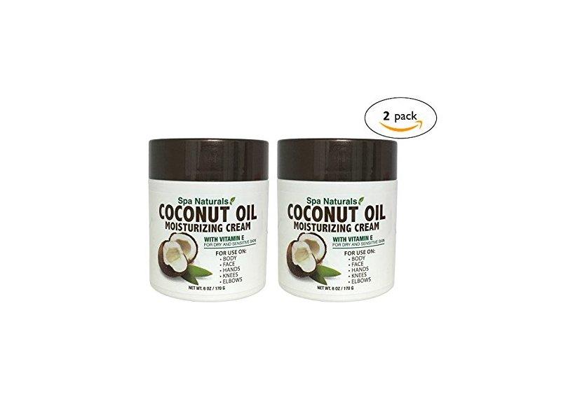 Spa Naturals Extra Virgin Coconut Oil Moisturizing Cream, 12oz