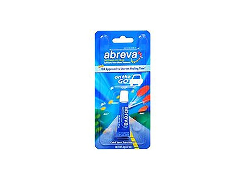 Abreva Cold Sore/Fever Blister Treatment Cream, 2 g