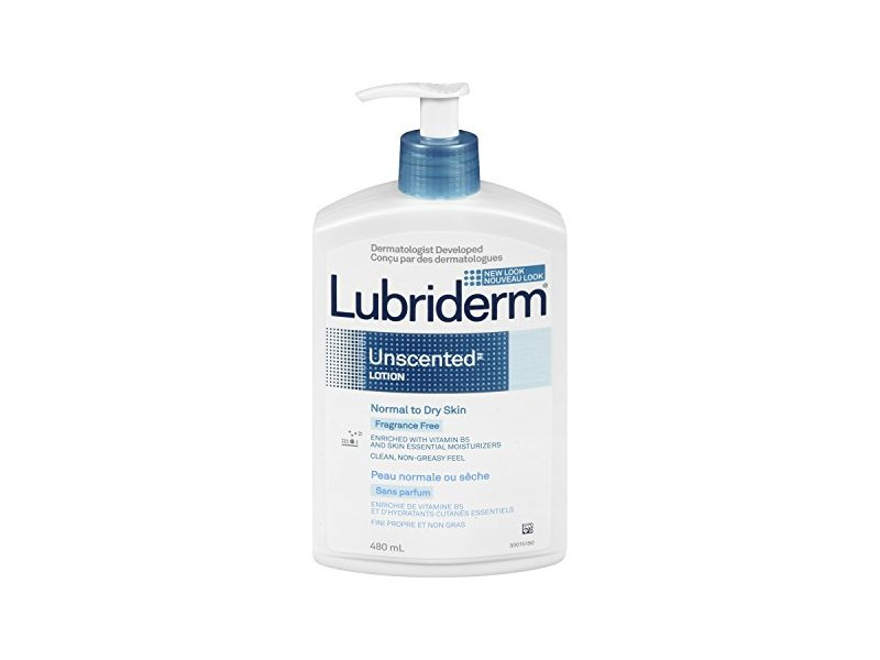Lubriderm Unscented Lotion, Normal to Dry Skin, 480 mL
