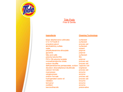 Tide Pods Laundry Detergent Free Amp Gentle 30 Oz 35
