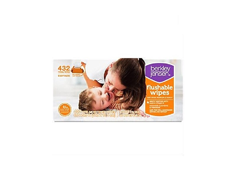 Berkley Jensen Family & Toddler Moist Flushable Wipes, 432 Count