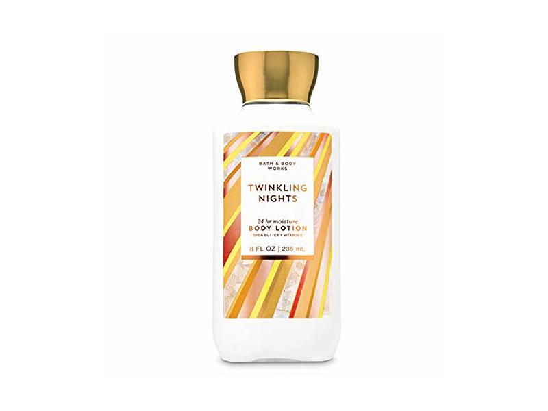 Bath and Body Works Twinkling Nights 24 hr Moisture Super Smooth Body Lotion with Shea Butter & Vitamin E, 8 fl oz
