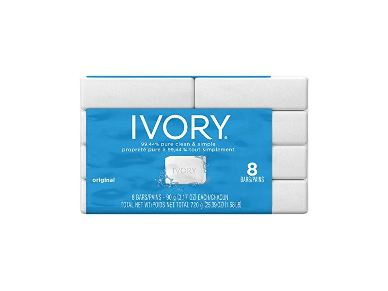 Ivory Bar, Original Scent, 3.17 oz (8 pack)