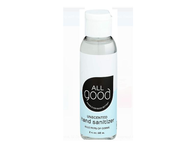 All Good Hand Sanitizer, Unscented, 2 fl oz/60mL, Pack Of 6