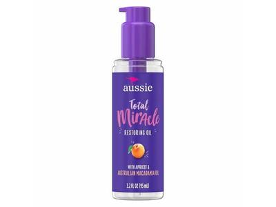 Aussie Total Miracle Restoring Oil With Apricot, 3.2 fl oz - Image 1