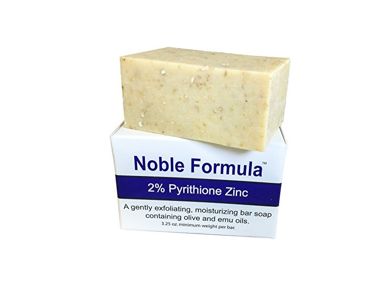 Noble Formula 2% Pyrithione Zinc (ZnP) Original Bar Soap, 3.25 oz