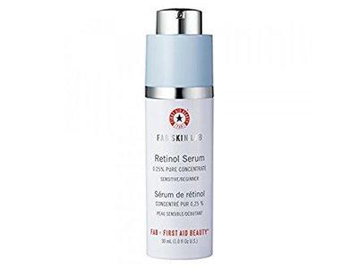 First Aid beauty Skin Lab Retinol Serum 0.25% Pure Concentrate, 1 fl oz/30 mL