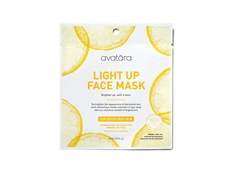Avatara Light Up Face Sheet Mask for Discolored Skin, 0.71 Fluid Ounce