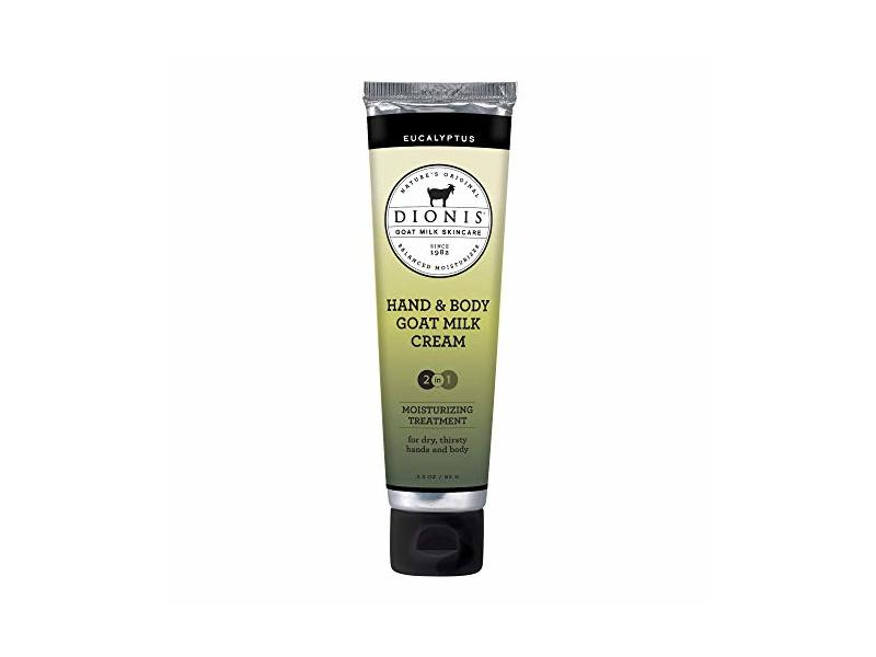 Dionis Skin Soothing Moisturizing Hand & Body Cream Mad of Goat's Milk, Eucalyptus