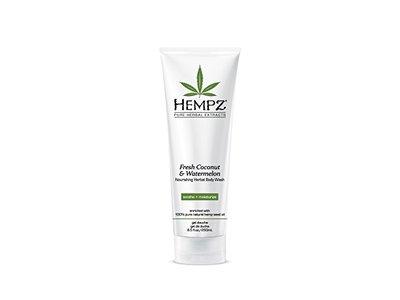 Hempz Herbal Body Wash, Pearl White, Fresh Coconut/Watermelon, 8.5 Fluid Ounce
