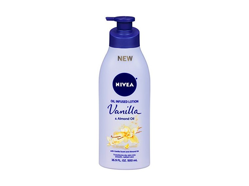 NIVEA Oil Infused Vanilla and Almond Oil Body Lotion, 16.9 Fluid Ounce