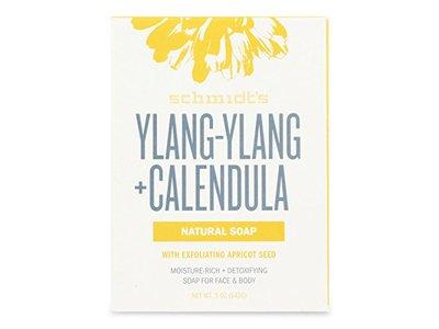 Schmidt's Ylang Ylang and Calendula Natural Soap, 5 Ounce Bar
