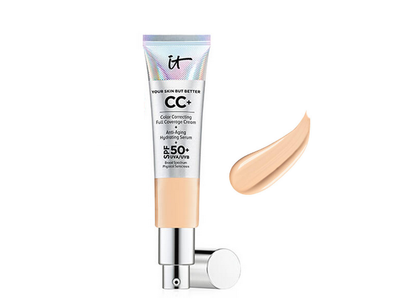 it cosmetics Your Skin But Better CC+ Cream SPF 50+, Light Medium, 1.08 fl oz