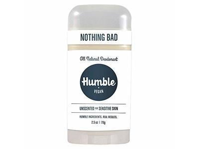 Humble Vegan All Natural Deodorant, Simply Unscented, 2.5 oz