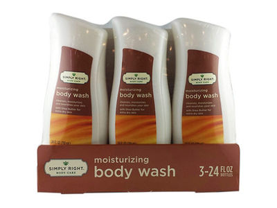 Simply Right Body Care Moisturizing Body Wash, 24 fl oz