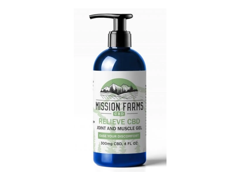Mission Farms Joint And Muscle Gel, Relieve Cbd, 300mg Cbd, 4 fl oz