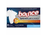 Bounce Wrinkleguard Mega Dryer Sheets, Outdoor Fresh, 80 Sheets - Image 2