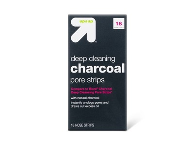 Up & Up Deep Cleansing Charcoal Pore Strips, 18 count