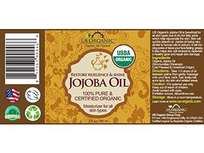 US Organic Jojoba Oil 2 oz (60ml) - Image 4