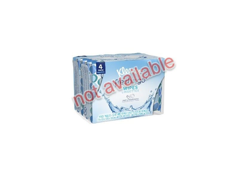 Kleenex Fresh On The Go Moist Wipes, 12 count (not available)
