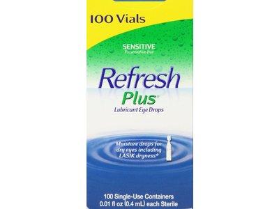 Refresh Plus Lubricant Eye Drops, 100 ct - Image 1