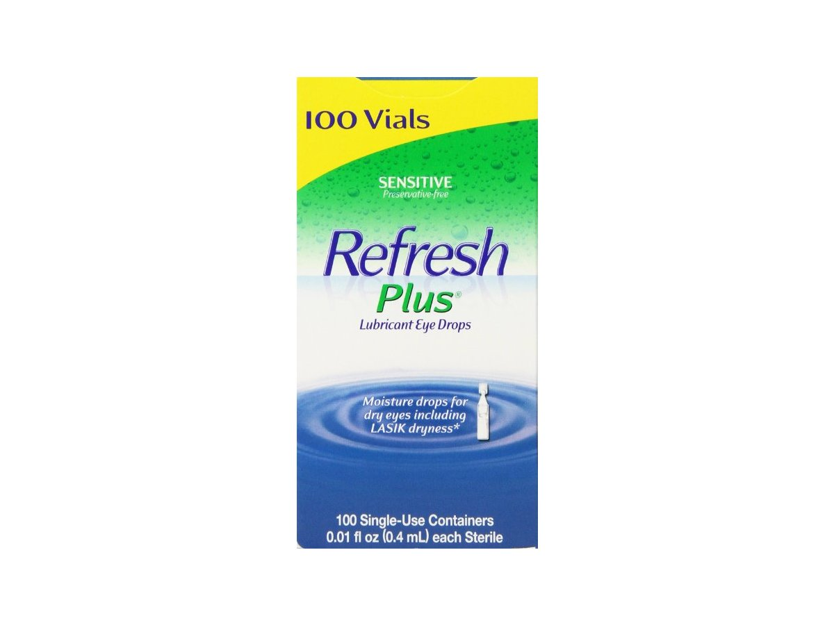 Refresh Plus Lubricant Eye Drops, 100 ct Ingredients and ...