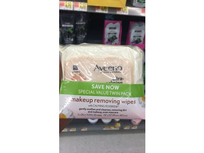 Aveeno Ultra-Calming Cleansing Oil-Free Makeup Removing Wipes for Sensitive Skin, 25 Count, Twin Pack - Image 11