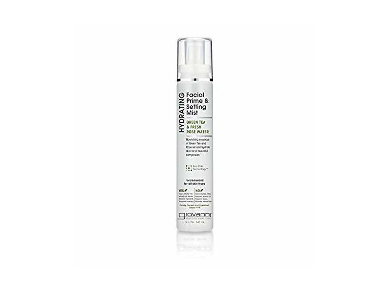 Giovanni Hydrating Facial Primer & Setting Mist, Eco Chic Green Tea & Fresh Rose Water, 5 Ounces
