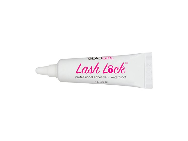 GladGirl Lash Lock Professional Waterproof Adhesive, Clear, 0.25 oz