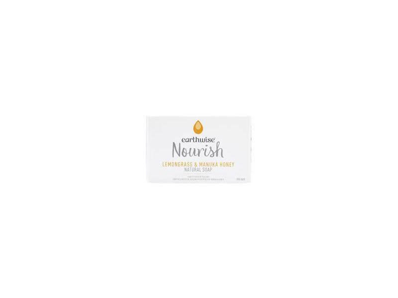 Earthwise Nourish Lemongrass & Manuka Honey Natural Soap, 90 g