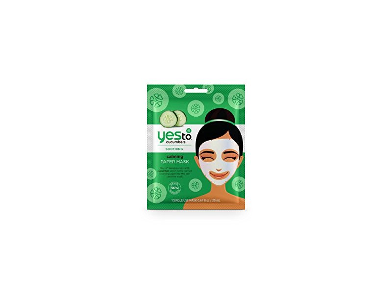 Yes to Cucumbers Paper Mask, 1 mask