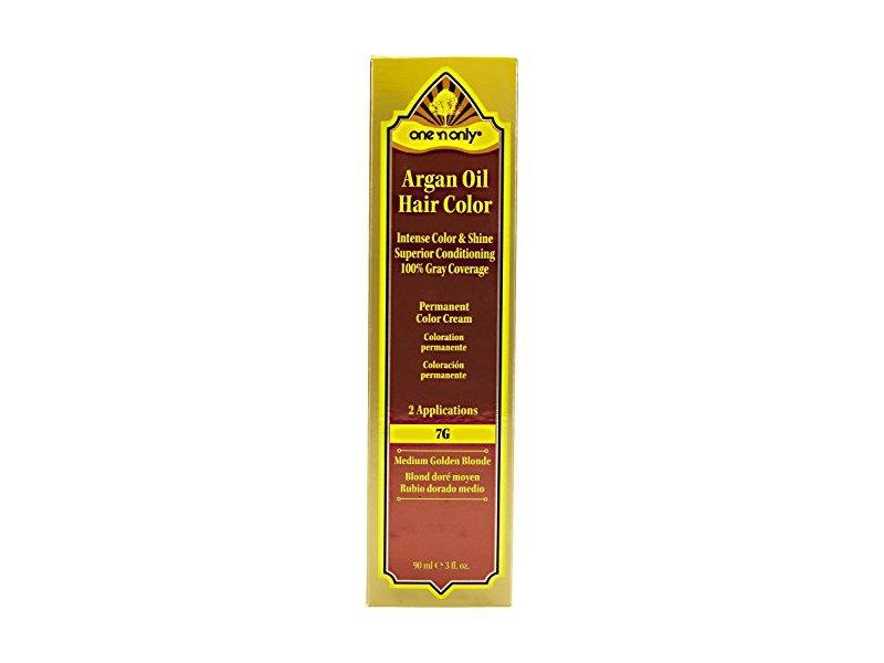 One 'n Only Argan Oil Hair Color, 7G Medium Golden Blonde