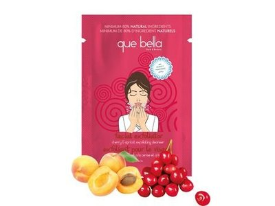 Que Bella Travel Size Cherry & Apricot Facial Exfoliating Cleanser, 0.5 Oz