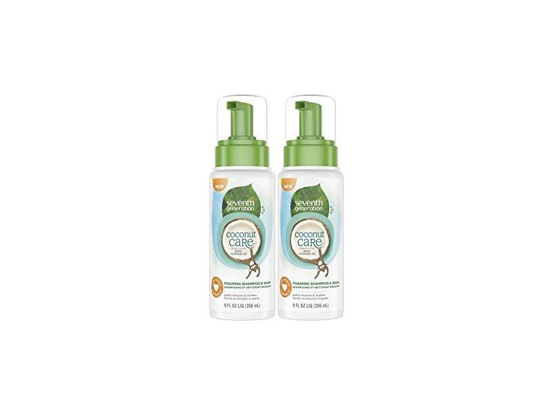 Seventh Generation Coconut Care Foaming Baby Shampoo & Wash, 9 fl oz