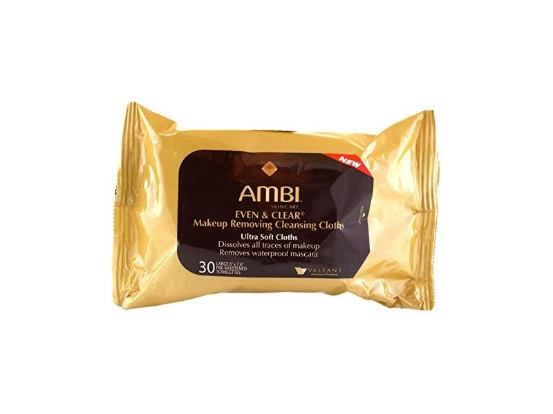 Ambi Even & Clear Makeup Removing Cleansing Cloths, johnson & johnson
