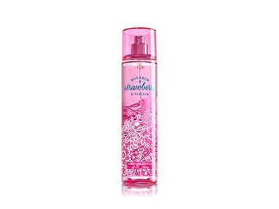 Bath and Body Works Fine Fragrance Mist, Bourbon Strawberry Vanilla, 8 Ounce Spray