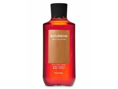 Bath & Body Works Bourbon Men's 2-IN-1 Hair & Body Wash, 10 Oz.