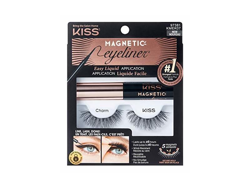 Kiss Magnetic Eyeliner & Lash Kit, Charm, 0.17 oz/5 g
